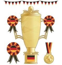 germany football trophy vector image