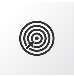 goal icon symbol premium quality isolated target vector image