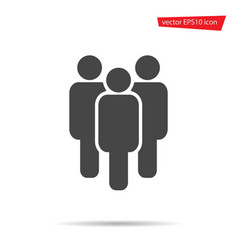 group person icon gray team people isolate vector image