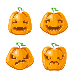 halloween jack o lantern pumpkin decoration scary vector image