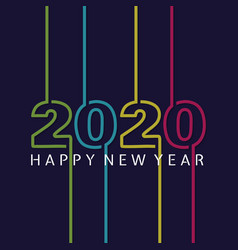 happy 2020 new year insta colour banner vector image