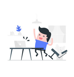 happy at work concept vector image