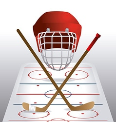 hockey design vector image
