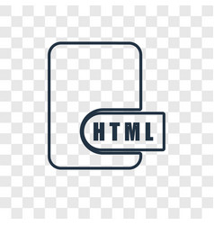 html concept linear icon isolated on transparent vector image