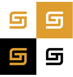 Initial letter g logo design template elements vector