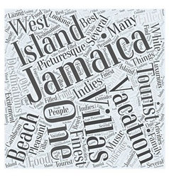 Jamaica vacation villas word cloud concept vector