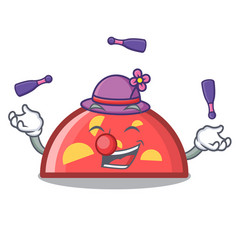 juggling semicircle mascot cartoon style vector image