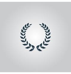 laurel wreath icon vector image