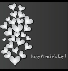 Love pattern heart banner vector image