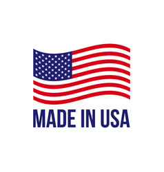 made in usa icon american flag vector image