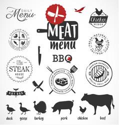 meat menu icon vector image
