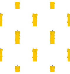 Memorial candle pattern seamless vector
