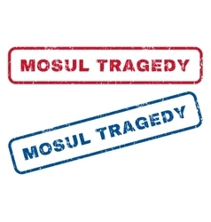 Mosul Tragedy Rubber Stamps vector