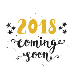 New year card 2018 year coming soon vector