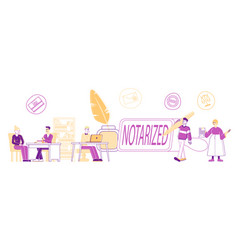 notary professional service concept people vector image