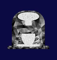 polygon coffee machine image vector image