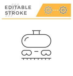 railroad tank line icon vector image