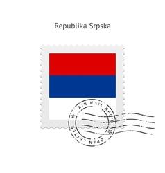 Republika Srpska Flag Postage Stamp vector
