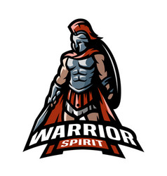 roman warrior logo vector image