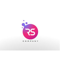rs letter dots logo design with creative trendy vector image