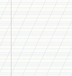 school notebook line vector image