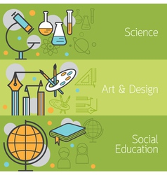 Science Art and Design Social Banner vector