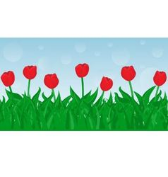 seamless tulips vector image
