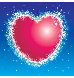 Shiny shiny heart vector