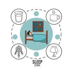 Sweet dreams and good sleep infographic vector