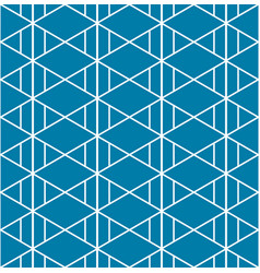 Triangle aztec indigo blue pattern seamless vector