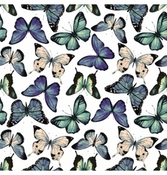 Watercolor butterfly pattern vector image