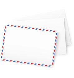 White paper envelops vector image