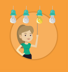 woman having business idea vector image
