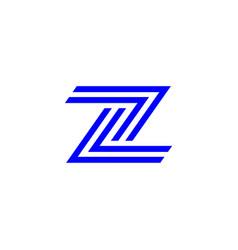 z letter logo template vector image