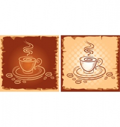 background with art coffee cup vector image vector image