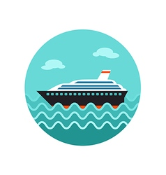 Cruise transatlantic liner ship icon vacation vector