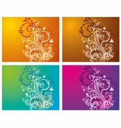 floral swirl vector image vector image