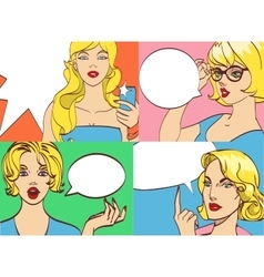 GREAT SET of beautiful colorful cartoon vector image vector image