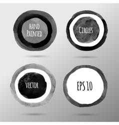 Hand drawn circles vector image vector image