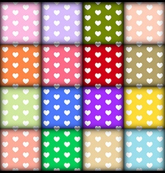 Heart pattern on colorful background vector image vector image