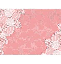 Lace invitation design template sample wedding vector image vector image