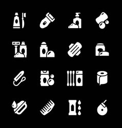 Set icons of hygiene vector image vector image