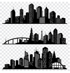 city building silhouettes urban vector image
