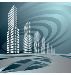 city landscape is in dark tones vector image
