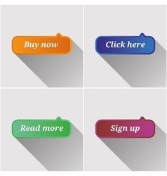 Flat web buttons set vector image