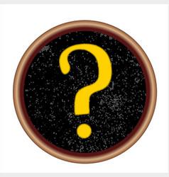 question mark key vector image