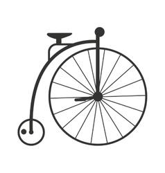 Retro style vintage bike nineteenth century vector image vector image
