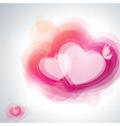 Abstract pink hearts vector image