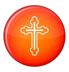 Crucifix icon flat style vector