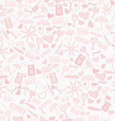Doodle seamless love pattern vector image vector image